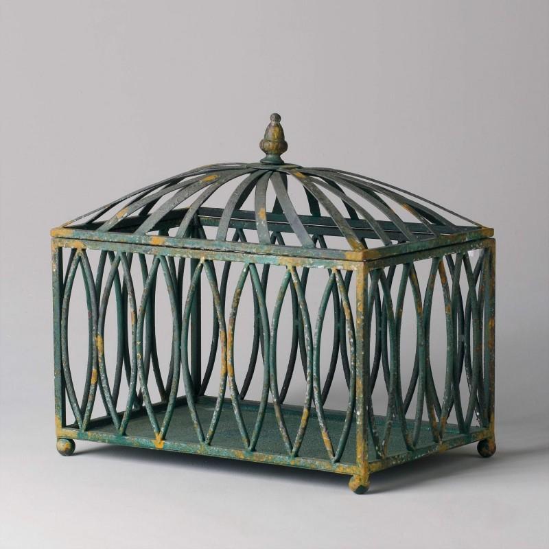 Caja de hierro calado verde - BECARA