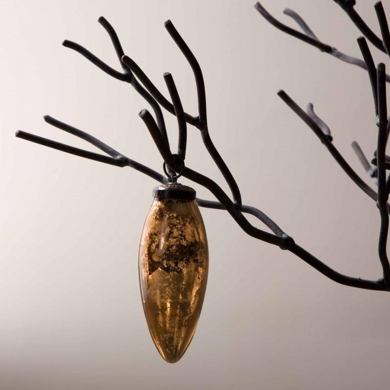 Gold Xmas pear