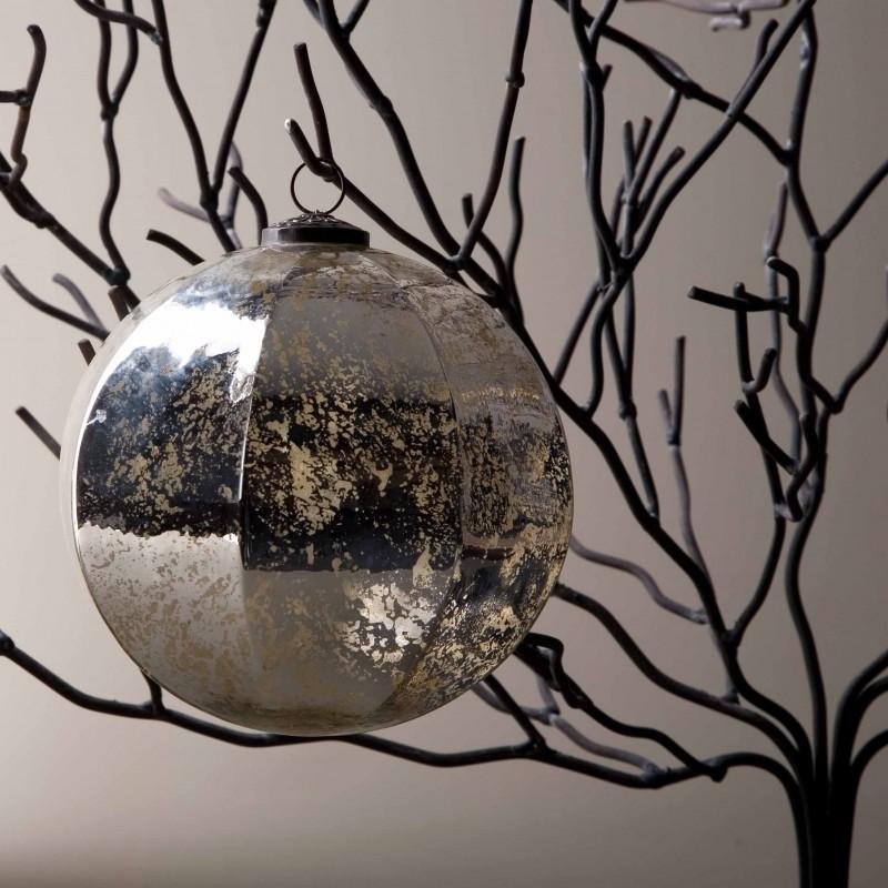 Bola de Navidad octogonal plateada Ø20cm - BECARA