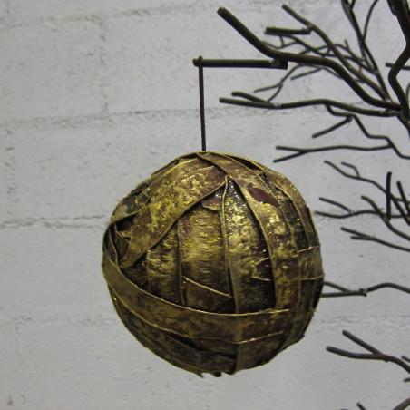 Bola de Navidad tiras doradas Ø13cm