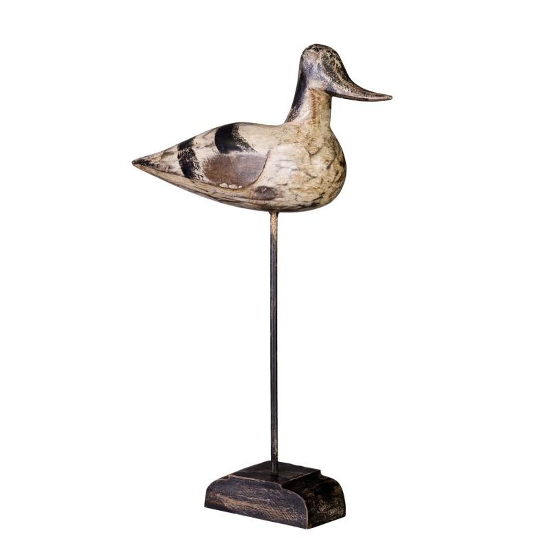 Female bird on stand