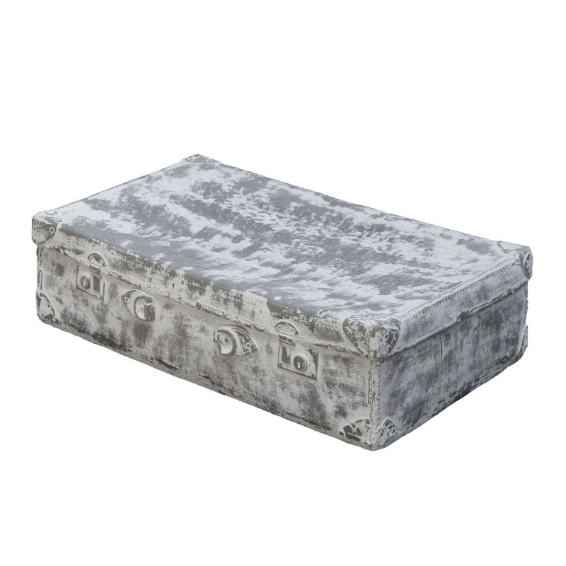 Grey and white small suitcase figure
