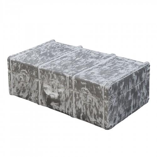 Figura maleta mediana gris y blanco