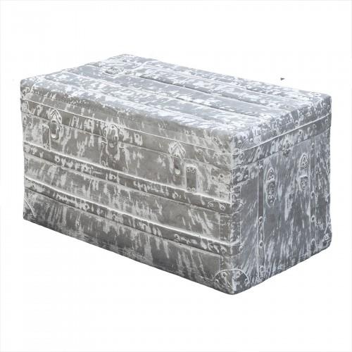 Figura maleta grande gris y blanco