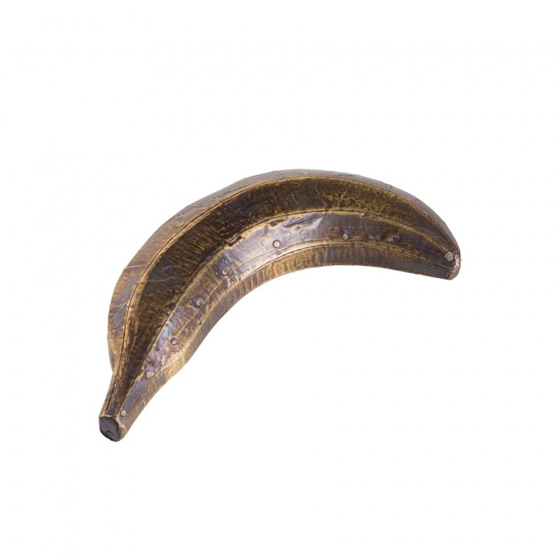 Goldish wooden banana