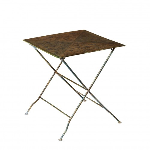 Metal square table with triangles on top