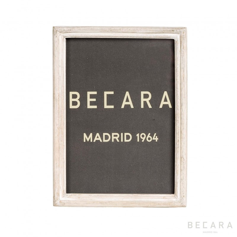 Marco blanco de madera - BECARA