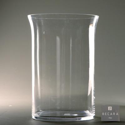 Florero de cristal grande