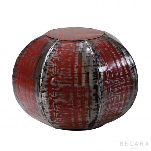 Mesa-Puff heptagonal roja - BECARA