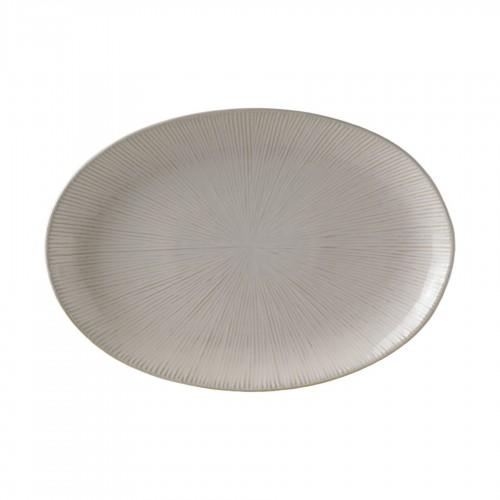 Cream oval Spin platter