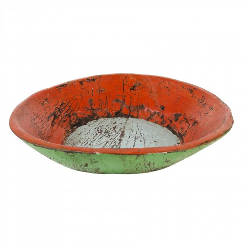 Big green and red bowl