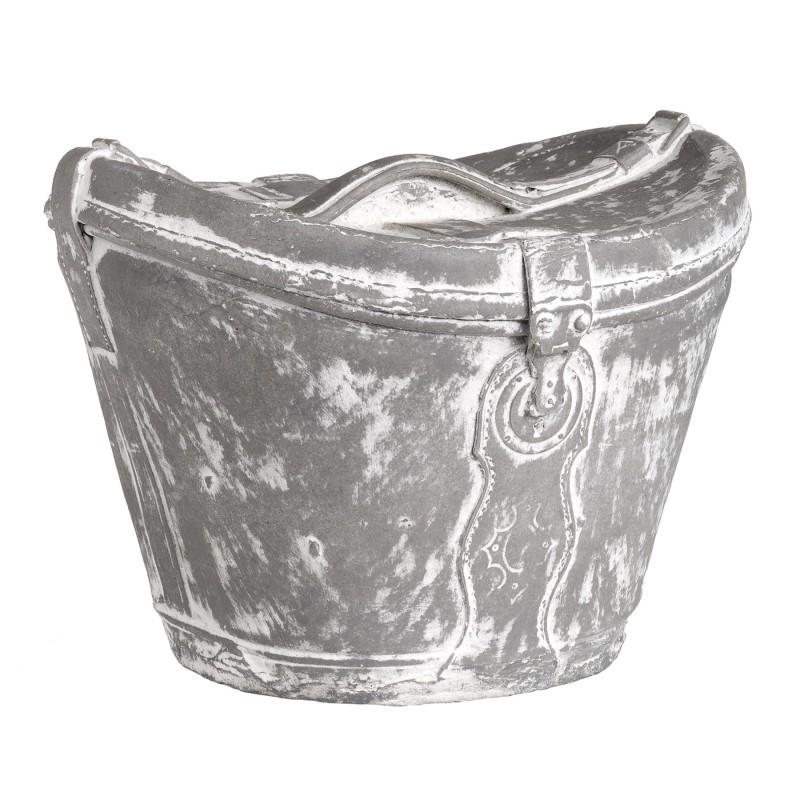 Figura de bolso sombrero gris y blanco - BECARA