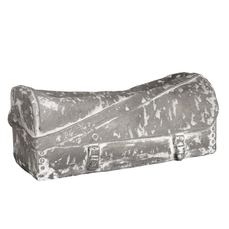 Figura bolso plano gris y blanco - BECARA