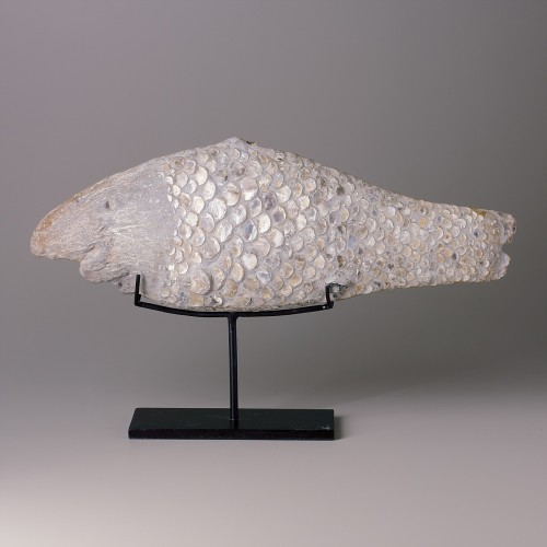 Stone fish on stand