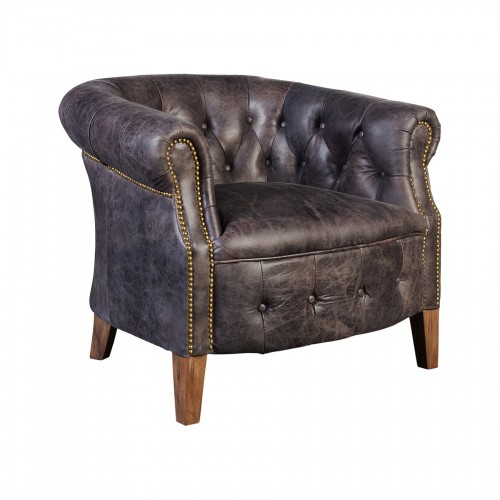 Elephant leather Woodstok armchair
