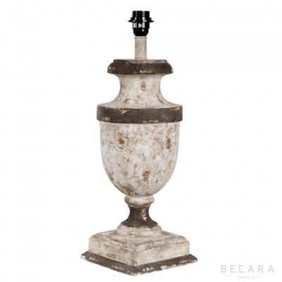 54CM WHITE WOODEN LAMP