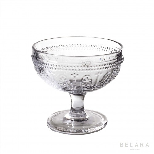 Transparent Victoria ice-cream glass