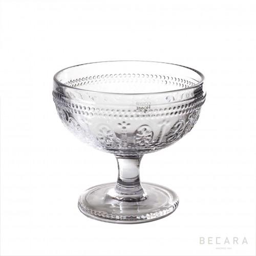 Transparent Victoria ice-cream glass