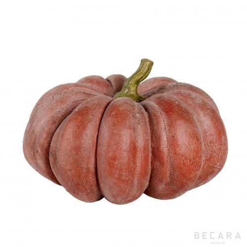 Big terracotta pumpkin