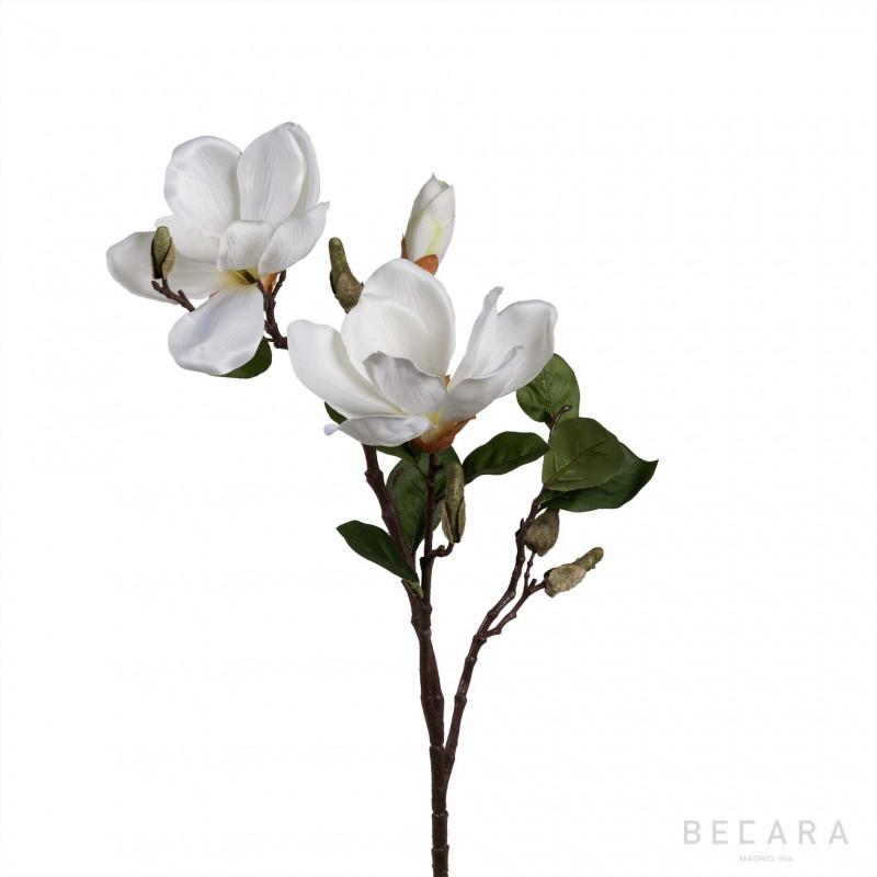 Rama de magnolias blancas 71cm decoraci n en becara for Ramas blancas decoracion