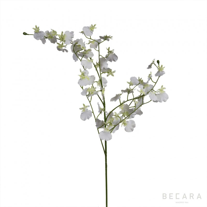 81cm white Orchid branch