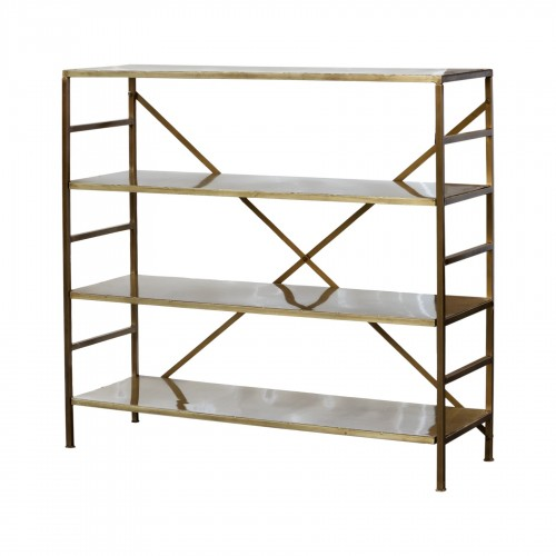 Golden iron shelves