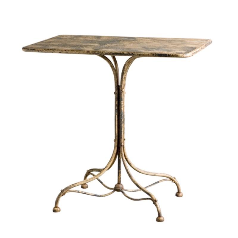 Stripping ochre side table