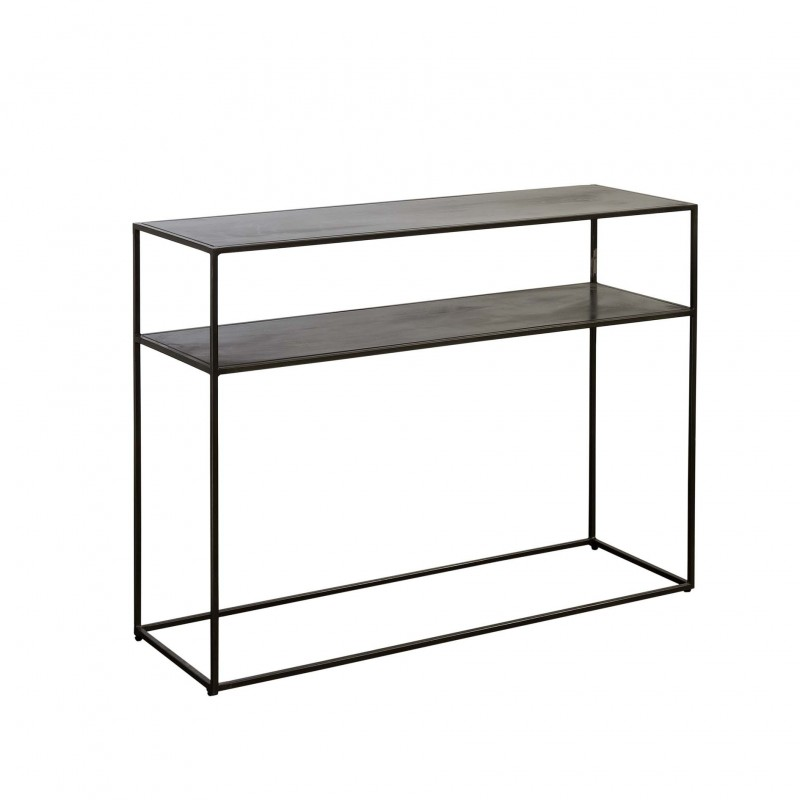 Metal console with 2 shelves