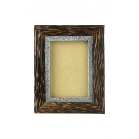 Marco de madera de coco con interior shragreen