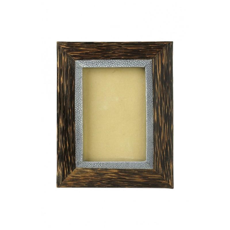Marco de madera de coco con interior shragreen - BECARA