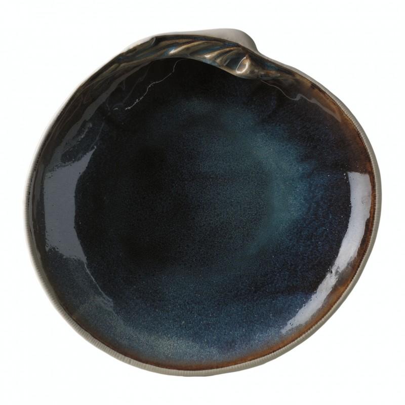 Plato llano concha azul - BECARA