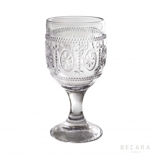 Transparent Victoria water glass