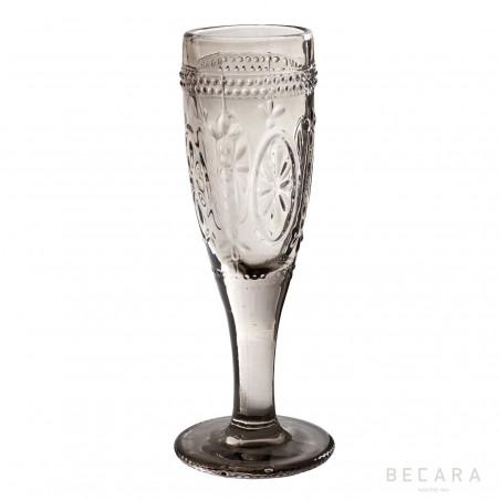 Smoked Victoria champagne glass