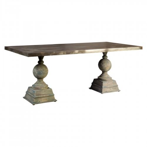 Mesa de comedor con patas columna