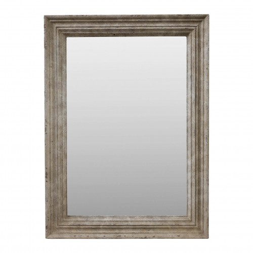 95x130cm cream-colored wooden mirror