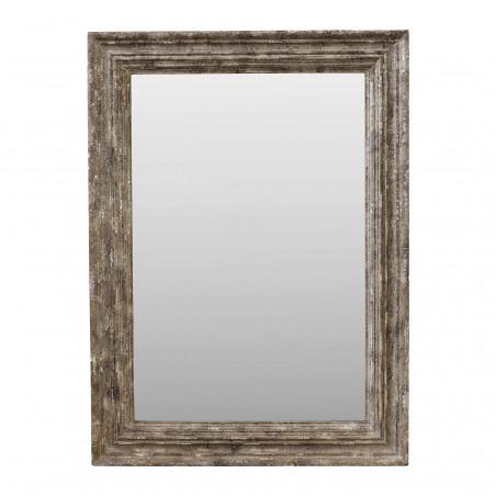 Espejo de madera beige plateado 95x130cm