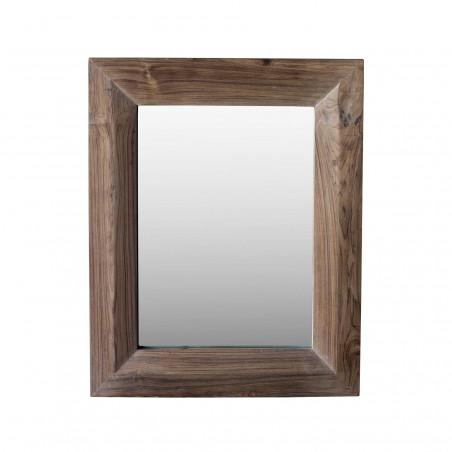 76x66cm teak wood mirror