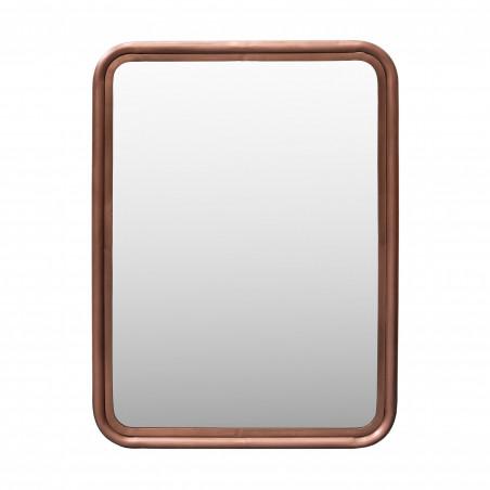 Espejo de hierro cobrizo 76x106cm