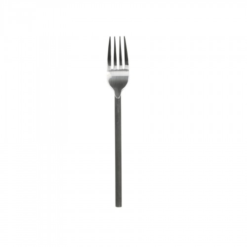 Black steel handle meat fork
