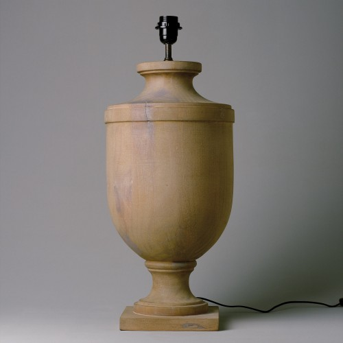 Lámpara de mesa de madera natural 65cm