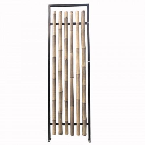 Biombo de bambú y hierro