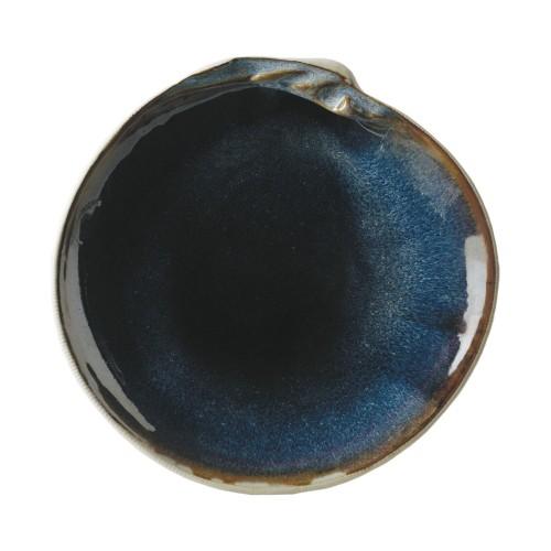 Blue shell dessert plate