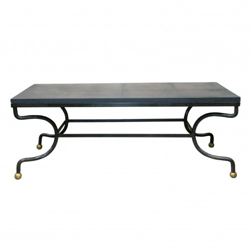 Iron dinning table with slate board on top