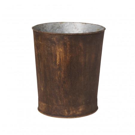 Rusty iron bucket