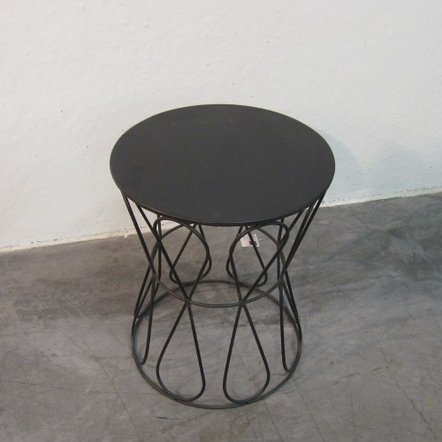 Black iron stool