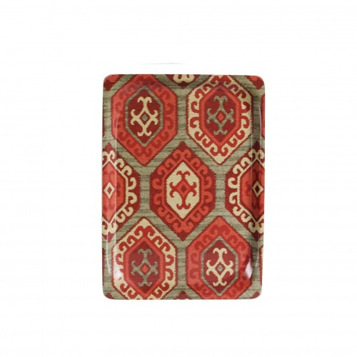 Small red rhombus tray