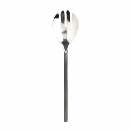 Tenedor de servir con mango de acero negro