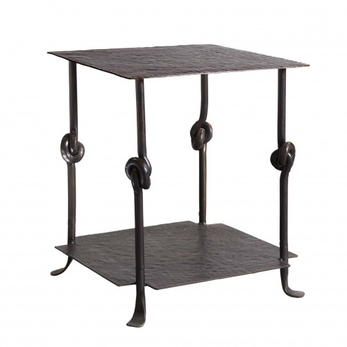 Iron side tables with knots