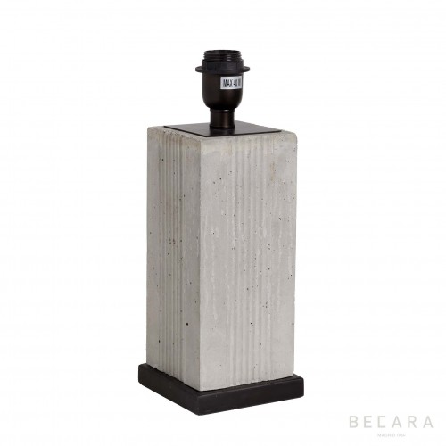 Cement block table lamp