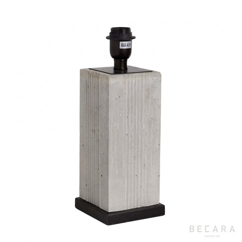 Lámpara de mesa de bloque de cemento - BECARA